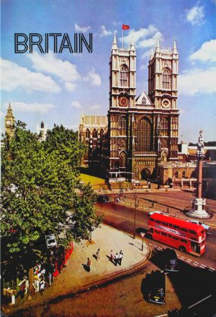 Westminster Abbey, Retro London Poster